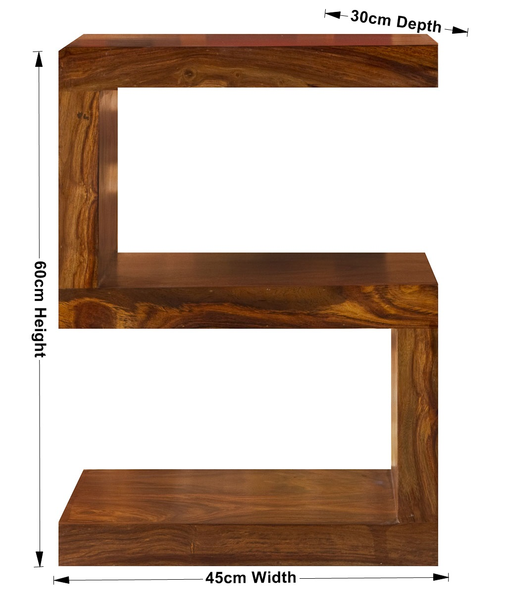 Wonderful image of Cube Petite Indian Sheesham Wood Modern S Shelf/Shelving/ Coffee Table with #6F3E1C color and 1024x1216 pixels