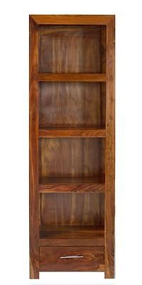 Cube Petite Indian Sheesham Wood Modern Compact Bookcase