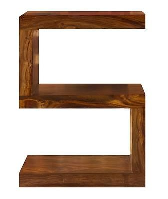 Cube Petite Indian Sheesham Wood Modern S Shelf/Shelving/ Coffee Table