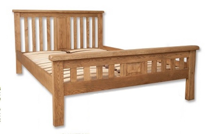 Hampton Natural Bedroom Chunky Solid Oak King Size Bed