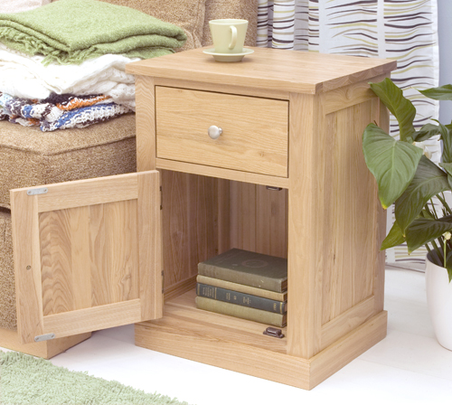 mobel oak one door one drawer lamp table 3946 p jpg