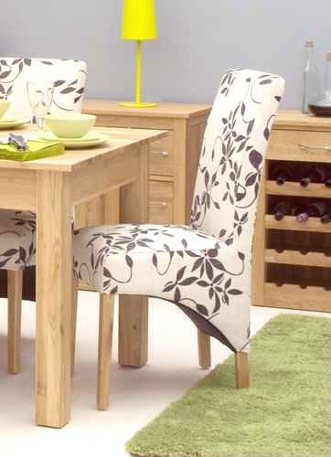 Pair of Mobel Oak Upholstered Dining Chair