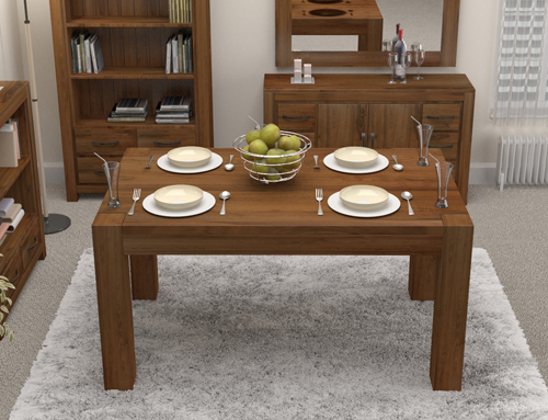 Walnut 150cm Dining Table (4/6 Seater) Chairs sold separately